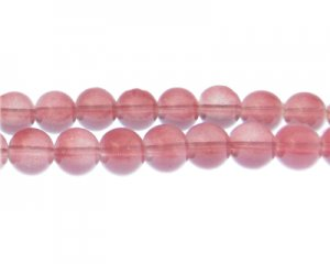 12mm Raspberry Jade-Style Glass Bead, approx. 18 beads