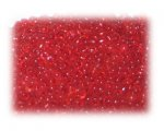 11/0 Red Frosted Glass Seed Beads, 1 oz. bag