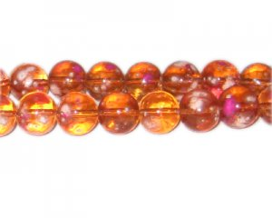 12mm Orange Blossom Spray Glass Bead, approx. 18 beads