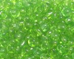 6/0 Apple Green Transparent Glass Seed Bead, 1oz. bag