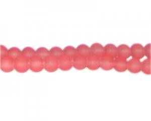 6mm Cerise Sea/Beach-Style Glass Bead, approx. 71 beads