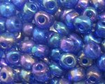 6/0 Dark Blue Luster Glass Seed Bead, 1oz. bag