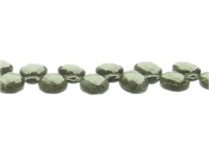 14 x 10mm Silver Faceted Drop Glass Bead. Limit 1!