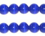 10mm Navy Round Cat's Eye Beads, approx.8 beads
