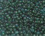 11/0 Dark Green Transparent Glass Seed Bead, 1oz. bag