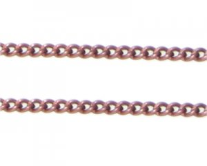 "1mm Copper Metal Link Chain - 40"" length"