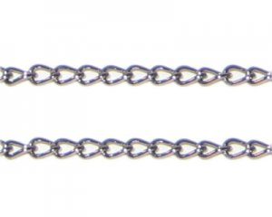 "2mm Black Metal Link Chain - 40"" length"