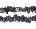 6mm Black Dyed Crackle Crystal Bead Chips