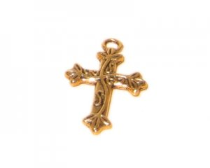 16 x 24mm Gold Cross - 2 crosses