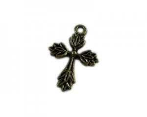 16 x 24mm Bronze Cross - 2 crosses