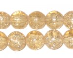 "12mm Champagne Crackle Bead, 8"" string, approx. 18 beads"