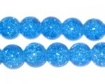 10mm Dark Turquoise Crackle Bead, approx. 21 beads