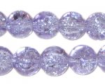 "12mm Lilac Crackle Bead, 8"" string, approx. 18 beads"