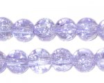 "10mm Lilac Crackle Bead, 8"" string, approx. 21 beads"