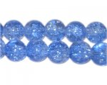 "10mm Sky Blue Round Crackle Bead, 8"" string, approx. 21 beads"