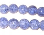 "12mm Lilac Round Crackle Bead, 8"" string, approx. 18 beads"