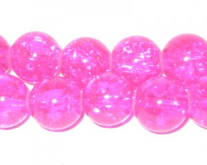 "12mm Bubblegum Crackle Glass Bead, 8"" string, approx. 18 beads"