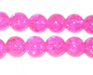"10mm Bubblegum Crackle Bead, 8"" string, approx. 21 beads"