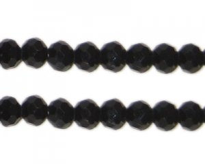 6mm Black Round Crystal Bead, 20 Beads