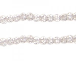 4mm Crystal Round Bead, 30 Beads