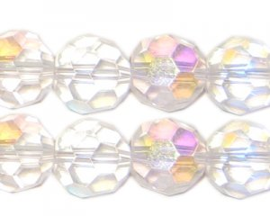 12mm Round Crystal AB Finish Bead, 8 beads