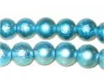 12mm Drizzled Light Turquoise Bead, approx. 18 bead