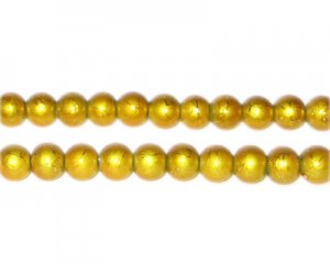 6mm Drizzled Yellow Gold Bead, approx. 48 beads