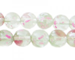 12mm Rose Water Season Glass Beads, approx. 18 beads