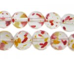 12mm Autumn Leaves Season Glass Beads, approx. 18 beads