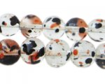 12mm Halloween Season Glass Beads, approx. 18 beads