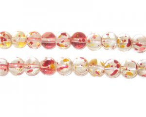 6mm Autumn Leaves Season Glass Beads, approx. 75 beads