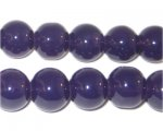 12mm Soft Purple Jade-Style Glass Bead, approx. 18 beads