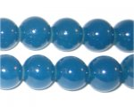 12mm Petrol Blue Jade-Style Glass Bead, approx. 18 beads