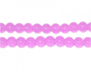 6mm Violet Jade-Style Glass Bead, approx. 77 beads
