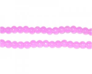 4mm Violet Jade-Style Glass Bead, approx. 105 beads