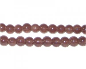 6mm Brown Jade-Style Glass Bead, approx. 77 beads