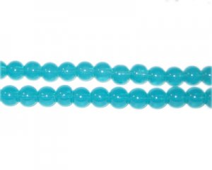 4mm Cerulean Jade-Style Glass Bead, approx. 105 beads