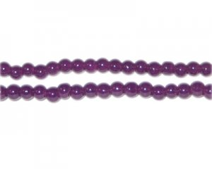 4mm Grape Jade-Style Glass Bead, approx. 105 beads