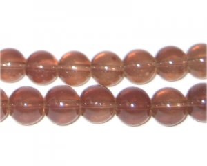 10mm Cocoa Jade-Style Glass Bead, approx. 21 beads