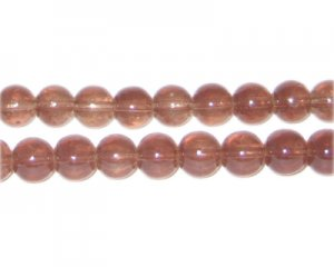 8mm Cocoa Jade-Style Glass Bead, approx. 55 beads