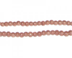 4mm Cocoa Jade-Style Glass Bead, approx. 105 beads