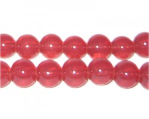 10mm Tomato Jade-Style Glass Bead, approx. 21 beads