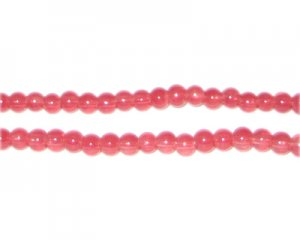 4mm Tomato Jade-Style Glass Bead, approx. 105 beads