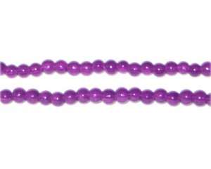 4mm Purple Jade-Style Glass Bead, approx. 105 beads