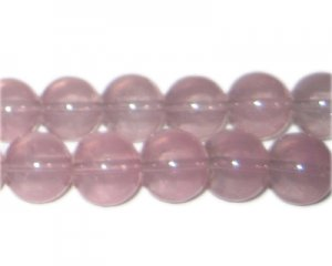 12mm Soft Plum Jade-Style Glass Bead, approx. 18 beads