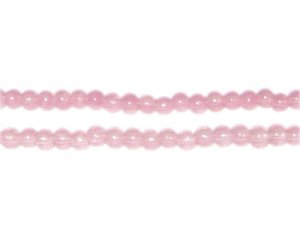 4mm Soft Plum Jade-Style Glass Bead, approx. 105 beads