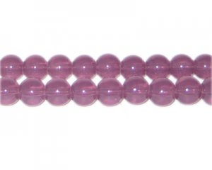 8mm Plum Jade-Style Glass Bead, approx. 55 beads