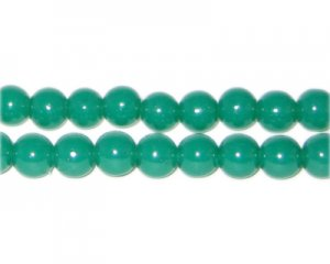 8mm Emerald Jade-Style Glass Bead, approx. 55 beads