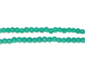 4mm Emerald Jade-Style Glass Bead, approx. 105 beads