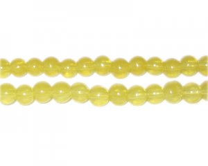 6mm Citrine Jade-Style Glass Bead, approx. 77 beads
